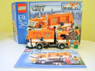 Lego City 7991 Recycle Truck Garbage Sanitation Minifig Town Transport Retired