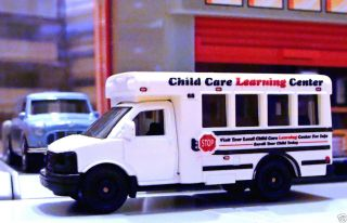 GMC School Bus Matchbox 2011 City Action White Child Care Learning Center Loose