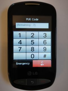 LG 800G Black Tracfone Cellular Phone