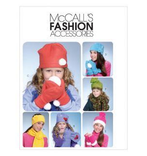 Womens Girls Fleece Hat Turban Glove Sewing Pattern