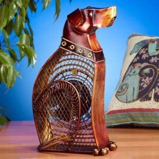 Decorative Figurine Small Dog Portable Table Desk Fan by Deco Breeze Home Decor