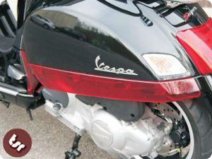Vespa GTS 125 250 300 Custom Clear Red Side Panel Trim