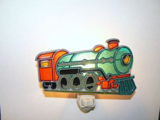 "Stain Glass Style ""Steam Engine "" Night Light"