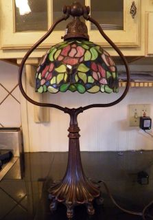 Beautiful Tiffany Style Stain Glass Table Lamp