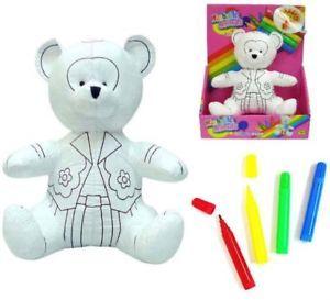 Color Wash Stuffed Teddy Bear Plush Toy Animals Toys