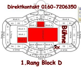 2 Top Tickets Aida Night of The Proms Frankfurt 06 12 13 Rang Block D