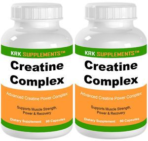2 Bottles Creatine Complex 3500mg Kre Alkalyn Ethyl Ester HCL KRK Supplements