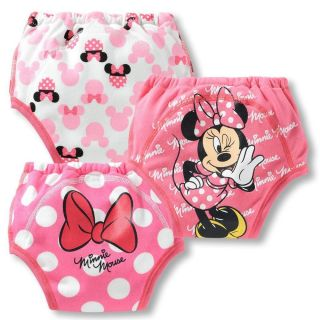 Baby Kids Girls Boys 3pcs Training Pants Potty Cartoon Underwear Size 1 2 T