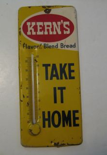 RARE Vintage Kern's Bread Advertising Working Thermometer