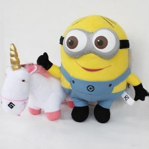 "Despicable Me Minion Plush Toy 3D Eye ""Dave Unicorn"""