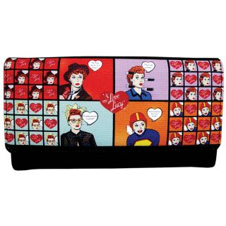 New I Love Lucy Cartoon Style Wallet Classic Lucille Ball TV Show Billfold