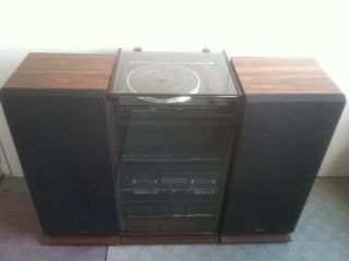 Vintage Fisher Home Stereo Component System 100 Watts w Cabinet