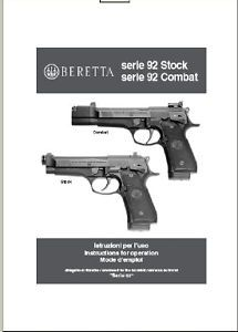 Beretta Series 92 Stock Combat Pistol Manual