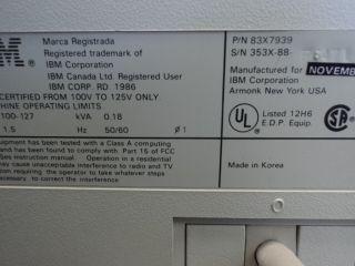 IBM 3196 Vintage Display Station 83x7939 Monitor Terminal 63x5252 Logic Board
