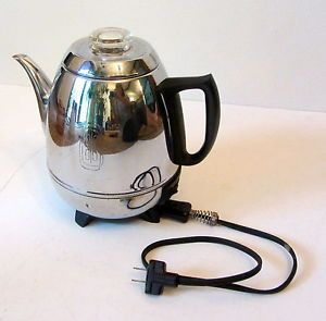 Vintage GE General Electric Pot Belly Coffee Percolator Maker Model 18P40 Tested
