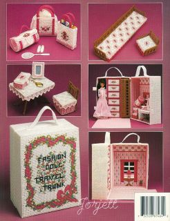 Fashion Doll Travel Trunk Annie's Plastic Canvas Patterns New