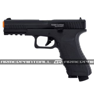 RAM Combat Pistol Black Paintball Military Scenario