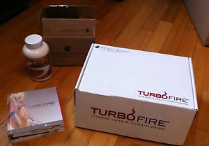 Turbo Fire Cardio Workout Program DVD's Vitamins Accessories Chalene Johnson