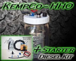 HHO Hydrogen Generator Fuel Cell Complete with All Hookup Parts for Diesel Motor