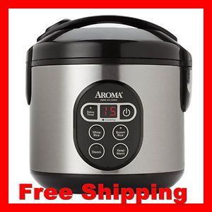 New Aroma Arc 914SBD Stylish 8CUP Cooked Digital Rice Cooker Food Steamer Warmer