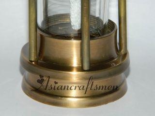 "Solid Brass Miner's Oil Lamp 6"" Brass Miner's Oil Lamp Coal Mining Lantern"