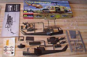 Complete Vintage Monogram US Army Hu 1A Jet Helicopter Model Kit