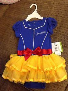 Disney Princess Baby Girl Snow White Onesie Tutu Costume Dress 12 Months
