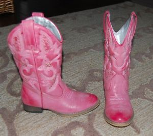 Volatile Kids Girls Rose Pink Western Cowboy Cowgirl Boots Halloween Costume 13