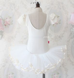 Girls Party Dance Ballet Tutu Dress Costume 3 8Y White Leotard Color Pettiskirt