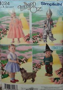 The Wizard of oz Toddler Halloween Costumes Sewing Patterns
