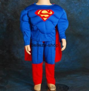 Halloween Party Superman Muscle Kid Costume Size 5 6