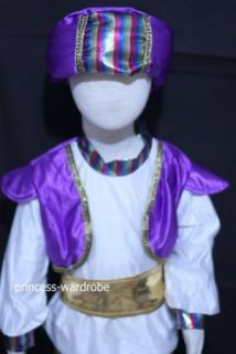 Halloween Aladdin Turban Party Kid Boys Costume 8 11Y