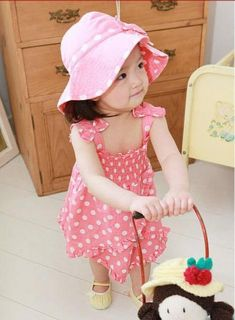 3pcs Kid Baby Girl Dress Braces Skirt Pant Hat Outfit Costume Cloth 0 36M Cute