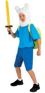 Child Cartoon TV Show Adventure Time Finn The Human Boy Hero Deluxe Costume
