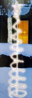 5' Multi Color LED Lighted Outdoor Spiral Christmas Tree Yard Art Decoration