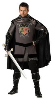 Dark Knight Adult Plus Mens Costume Medieval Tunic Armor Renaissance Halloween