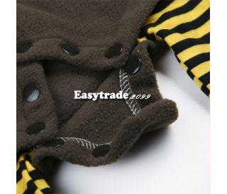 Baby's Super Cute Fleece Cartoon Ladybird Bee Costume Dress Romper 4 Sizes ESY1