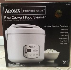New Aroma Professional Rice Cooker Food Steamer Arc 1000 10 Cup Sensor Logic