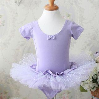 Girls Purple Dance Party Leotard Ballet Tutu Dress 3 8Y
