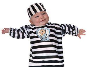 Baby Prisoner Convict Infant Jailbird Halloween Costume