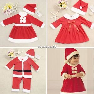 Cute Baby Boy Girl Christms Xmas Santas Party Suit Costume Dress Snowman Outfit