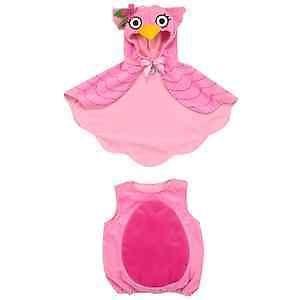 Koala Kids Baby Girl's Pink Owl Cape Halloween Dress Up Costume 3 Months