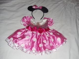 Disney Store Minnie Mouse Halloween Costume Baby Toddler Girls Size 18 24 Months