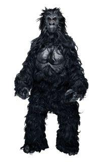 Hairy Gorilla Mascot Adult Mens Costume Monkey Ape Animal Jungle Party Halloween