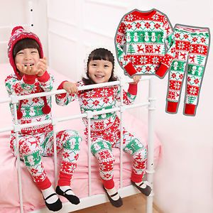 "Vaenait Baby Kids Boy Girl Christmas Clothes Sleepwear Pajama Set ""Snow Flower"""