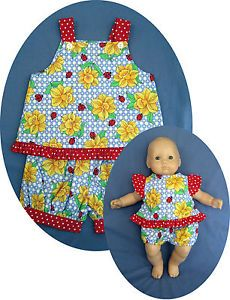 """For American Girl Bitty Baby 15"""" Doll Clothes Matching Easter Girl 3T Ladybug"""