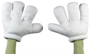 Cartoon Hands Big Jumbo Mario Costume Gloves Plush Adult Teen Men Women