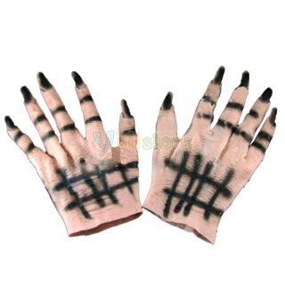 Costume Gloves Ghost Demon Monster Latex Horrible Hands Party Holiday Prop Gifts
