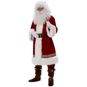 Super Dlx Old Time Santa Suit Victorian European World Claus Christmas Costume
