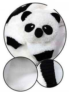 Cute Winter Cartoon Panda Pattern Warm Hat Scarf Set for Baby Toddler Unisex
